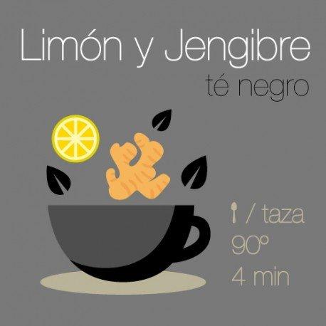Mezcla de té negro con Limón y Jengibre
