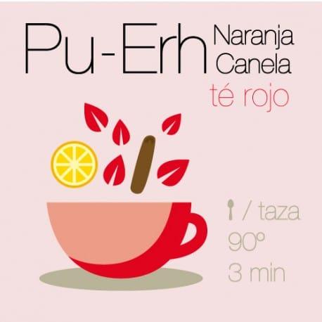Té rojo Pu-Erh con Naranja y Canela