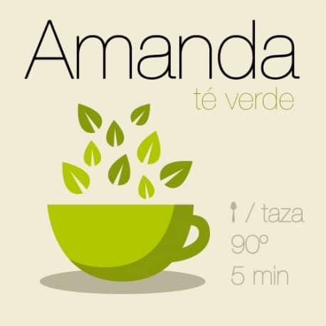 Mezcla de té verde y té blanco Amanda