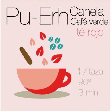 Mezcla de té rojo Pu-Erh Café Verde