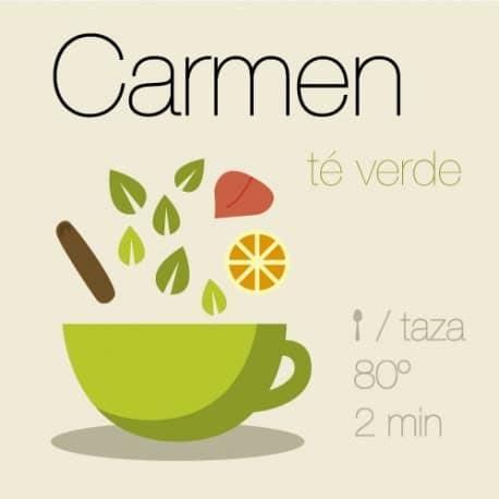Mezcla de té verde Carmen