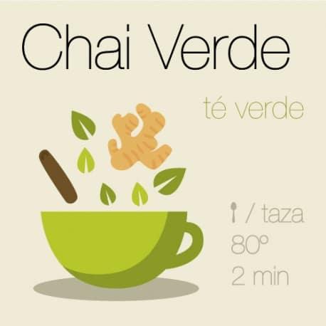 Mezcla de té verde Chai Verde