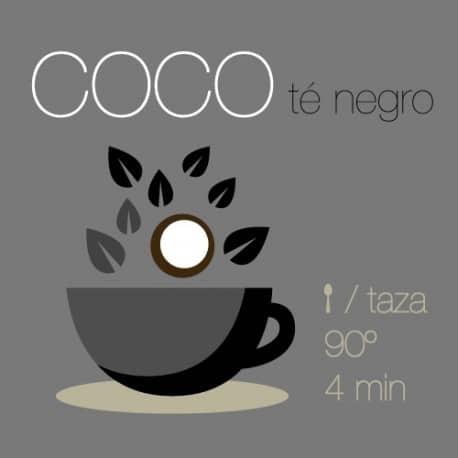 Té negro con Coco