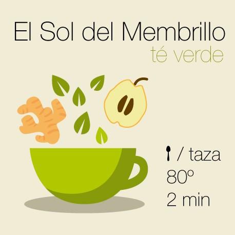Mezcla de té verde El Sol del membrillo