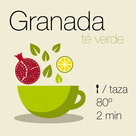 Mezcla de té verde y té blanco Granada