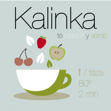 Mezcla de té verde y té blanco Kalinka