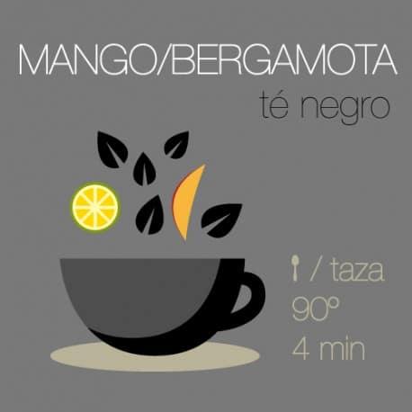 Té negro con Mango y Bergamota