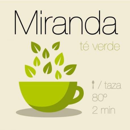 Mezcla de té verde y té blanco Miranda