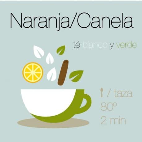 Mezcla de té verde y té blanco con Naranja y Canela