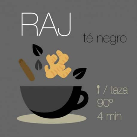 Mezcla de té negro Raj (Earl Grey Chai)