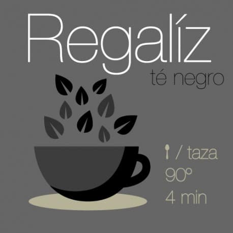 Té negro con Regaliz