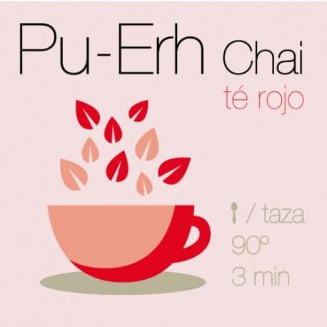 Mezcla de té rojo Pu-Erh Chai