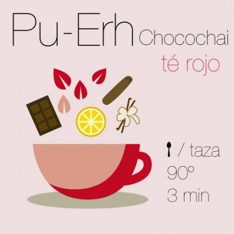 Mezcla de té rojo Pu-Erh ChocoChai