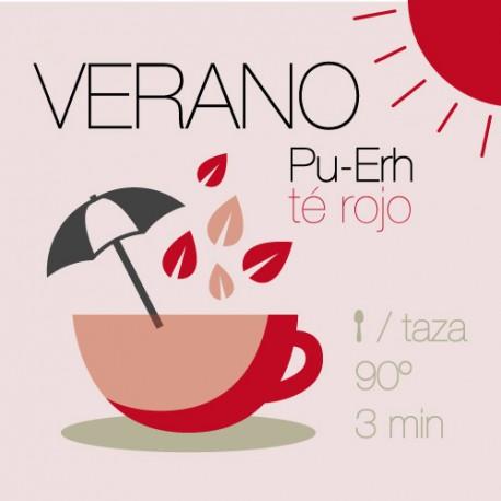 Mezcla de Verano con té rojo Pu-Erh