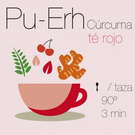 Té rojo Pu-Erh con Cúrcuma