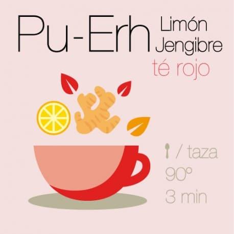 Té rojo Pu-Erh con Limón y Jengibre