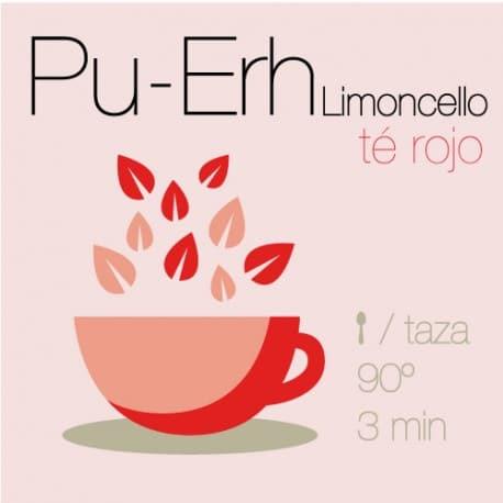Mezcla de Té rojo Pu-Erh Limoncello