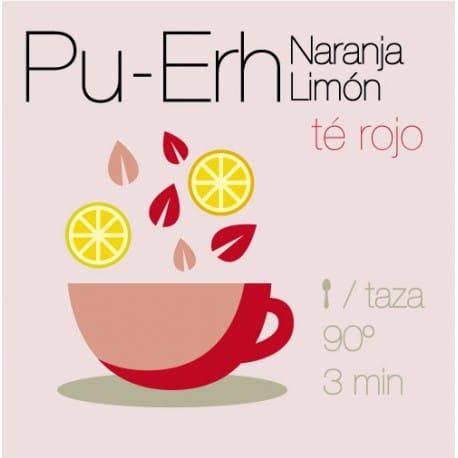 Té rojo Pu-Erh con Naranja y Limón