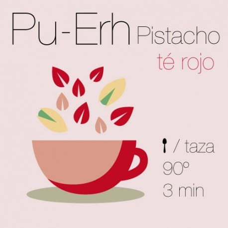 Té rojo Pu-Erh con Pistacho