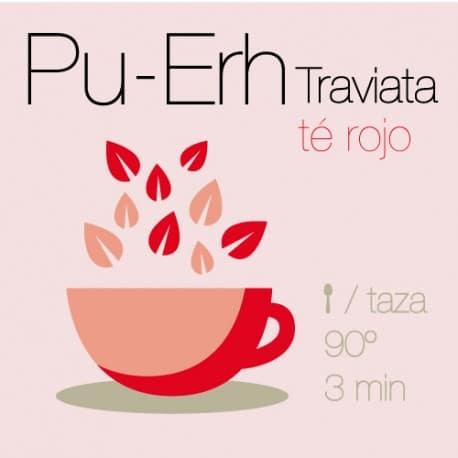 Mezcla de té Rojo Pu-Erh Traviata