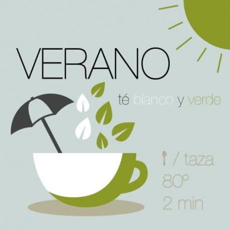 Mezcla de Verano con té verde y té blanco