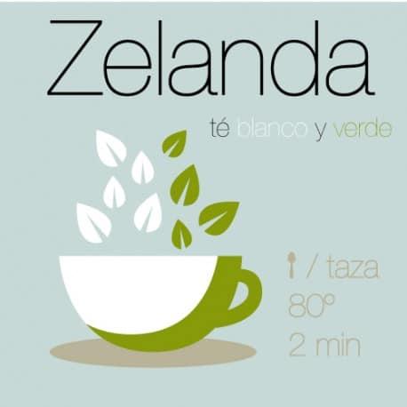 Mezcla de té verde y té blanco Zelanda