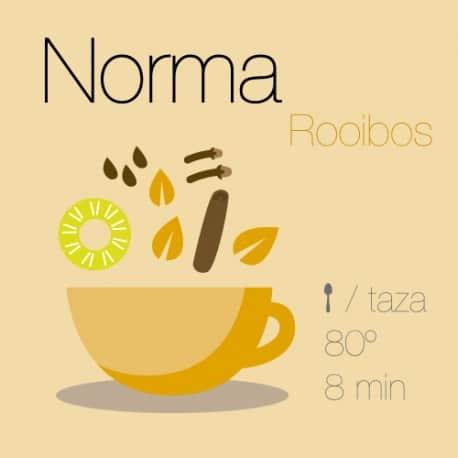 Mezcla de rooibos Norma (Naranja y jengibre)
