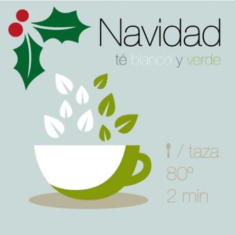 Te blanco y verde Navidad