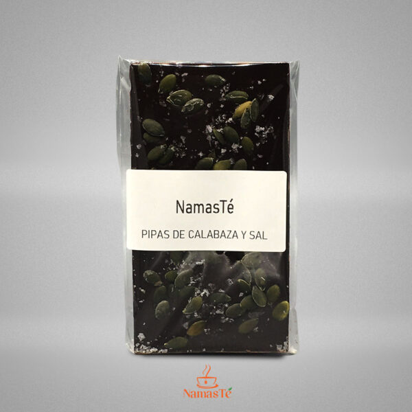 Chocolate Negro Pipas de Calabaza y Sal Maldon NamasTé Infusiones Badalona